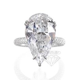 Pt900 ペアシェイプ ダイヤモンド リング